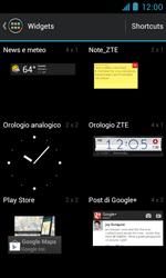 ZTE Blade III - Operazioni iniziali - Installazione di widget e applicazioni nella schermata iniziale - Fase 4