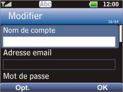 LG C360 Golf - E-mail - Configuration manuelle - Étape 13