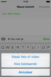 Apple iPhone 4 S iOS 7 - MMS - Afbeeldingen verzenden - Stap 8