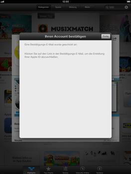 Apple iPad Retina - Apps - Einrichten des App Stores - Schritt 23
