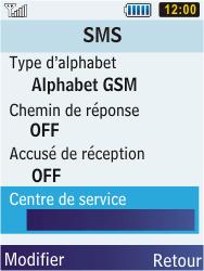 Samsung S5610 Primo - SMS - configuration manuelle - Étape 8