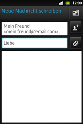 Sony Xperia Go - E-Mail - E-Mail versenden - Schritt 8