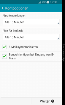 Samsung Galaxy Note Edge - E-Mail - Manuelle Konfiguration - Schritt 16