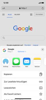 Apple iPhone X - iOS 14 - Internet und Datenroaming - Verwenden des Internets - Schritt 6
