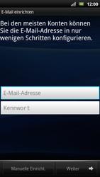Sony Ericsson Xperia Arc S - E-Mail - Konto einrichten - 1 / 1