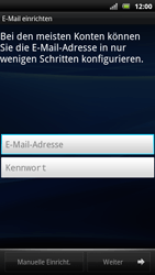 Sony Ericsson Xperia Arc S - E-Mail - Konto einrichten - Schritt 5