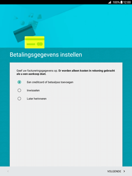 Samsung Galaxy Tab A 9.7 (SM-T555) - Applicaties - Account aanmaken - Stap 15