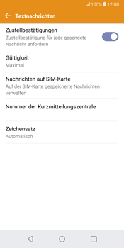 LG G6 - Android Oreo - SMS - Manuelle Konfiguration - Schritt 9