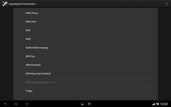 Sony Xperia Tablet Z LTE - MMS - Manuelle Konfiguration - 12 / 20