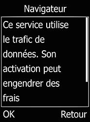 Doro 6520 - Internet et connexion - Naviguer sur internet - Étape 5