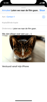 Apple iPhone X - e-mail - hoe te versturen - stap 14