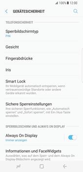 Samsung Galaxy S8 - Datenschutz und Sicherheit - Automatischen Screensaver einschalten - 13 / 17