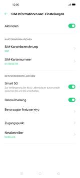 Oppo Find X2 Pro - Internet und Datenroaming - Deaktivieren von Datenroaming - Schritt 6