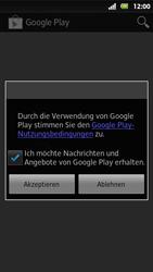 Sony Xperia Sola - Apps - Konto anlegen und einrichten - 17 / 19