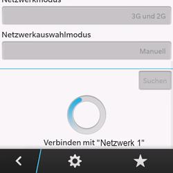 BlackBerry Q10 - Netzwerk - Manuelle Netzwerkwahl - Schritt 10