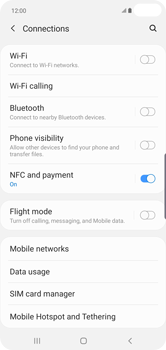 Samsung Galaxy S10 Plus - Internet and data roaming - How to check if data-connectivity is enabled - Step 5