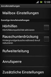 Sony Xperia E - Anrufe - Rufumleitungen setzen und löschen - Schritt 5