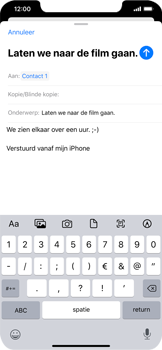 Apple iPhone 11 - E-mail - e-mail versturen - Stap 7