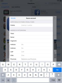 Apple iPad Air - iOS 8 - Applicazioni - Configurazione del negozio applicazioni - Fase 21