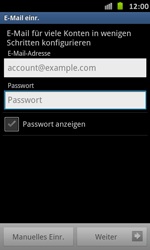 Samsung Galaxy S Advance - E-Mail - Manuelle Konfiguration - Schritt 5