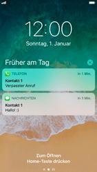 Apple iPhone 8 - iOS 11 - Sperrbildschirm und Benachrichtigungen - 1 / 1