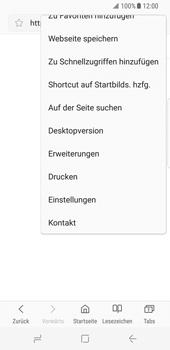Samsung Galaxy S8 - Datenschutz und Sicherheit - Datenschutzeinstellungen des Browsers ändern - 7 / 18