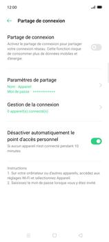 Oppo Find X2 Lite - Internet et connexion - Partager votre connexion en Wi-Fi - Étape 9