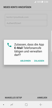 Samsung Galaxy S8 - Android Oreo - E-Mail - 032c. Email wizard - Outlook - Schritt 10