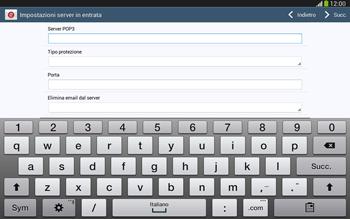 Samsung Galaxy Tab 3 10-1 LTE - E-mail - configurazione manuale - Fase 9