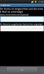Samsung Galaxy S - E-Mail - Konto einrichten - 16 / 18