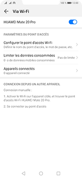 Huawei Mate 20 Pro - Internet - comment configurer un point d'accès mobile - Étape 10