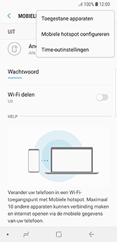 Samsung Galaxy S8 - Android Oreo (SM-G950F) - WiFi - Mobiele hotspot instellen - Stap 8
