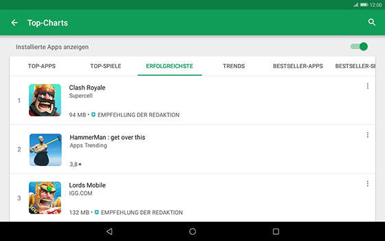 Huawei MediaPad T3 (10.0) LTE - Apps - Herunterladen - 1 / 1