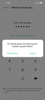 Oppo Reno 4 Pro - Sécuriser votre mobile - Activer le code de verrouillage - Étape 8