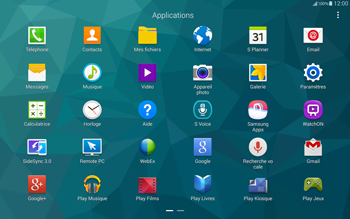 Samsung T805 Galaxy Tab S - E-mail - configuration manuelle - Étape 3
