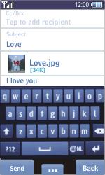 Samsung S8500 Wave - E-mail - Sending emails - Step 11