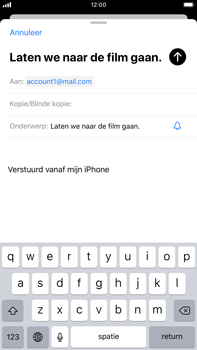 Apple iPhone 8 Plus - iOS 13 - E-mail - e-mail versturen - Stap 6