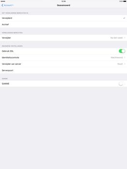 Apple iPad Pro 12.9 inch (Model A1671) - E-mail - Handmatig instellen - Stap 24