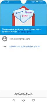 Huawei Y6 (2019) - E-mails - Ajouter ou modifier votre compte Gmail - Étape 12