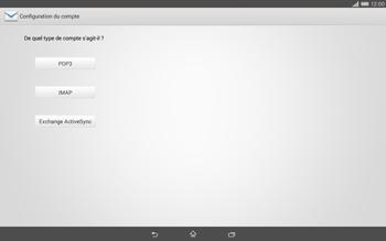 Sony Xperia Tablet Z2 LTE - E-mail - configuration manuelle - Étape 7