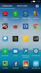 Alcatel One Touch Idol S - Startanleitung - Installieren von Widgets und Apps auf der Startseite - Schritt 4