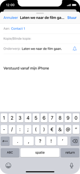 Apple iPhone X - iOS 12 - E-mail - hoe te versturen - Stap 7