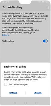 Huawei P20 Pro - Android Pie - WiFi - Enable WiFi Calling - Step 8