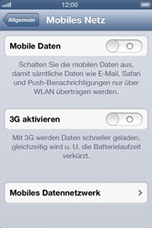 Apple iPhone 4S - Internet und Datenroaming - Manuelle Konfiguration - Schritt 5