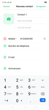 Oppo Reno 2 - Contact, Appels, SMS/MMS - Ajouter un contact - Étape 7