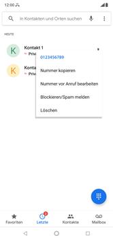Nokia 6.1 Plus - Anrufe - Anrufe blockieren - Schritt 5