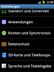 Samsung Galaxy Pocket - Gerät - Zurücksetzen auf die Werkseinstellungen - Schritt 4