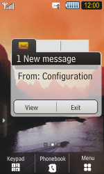 Samsung S5230 Star - MMS - Automatic configuration - Step 3