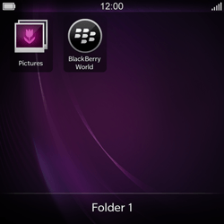 BlackBerry Q10 - Getting started - Personalising your Start screen - Step 9