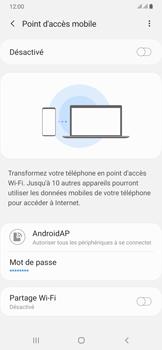 Samsung Galaxy A50 - Internet et connexion - Partager votre connexion en Wi-Fi - Étape 7